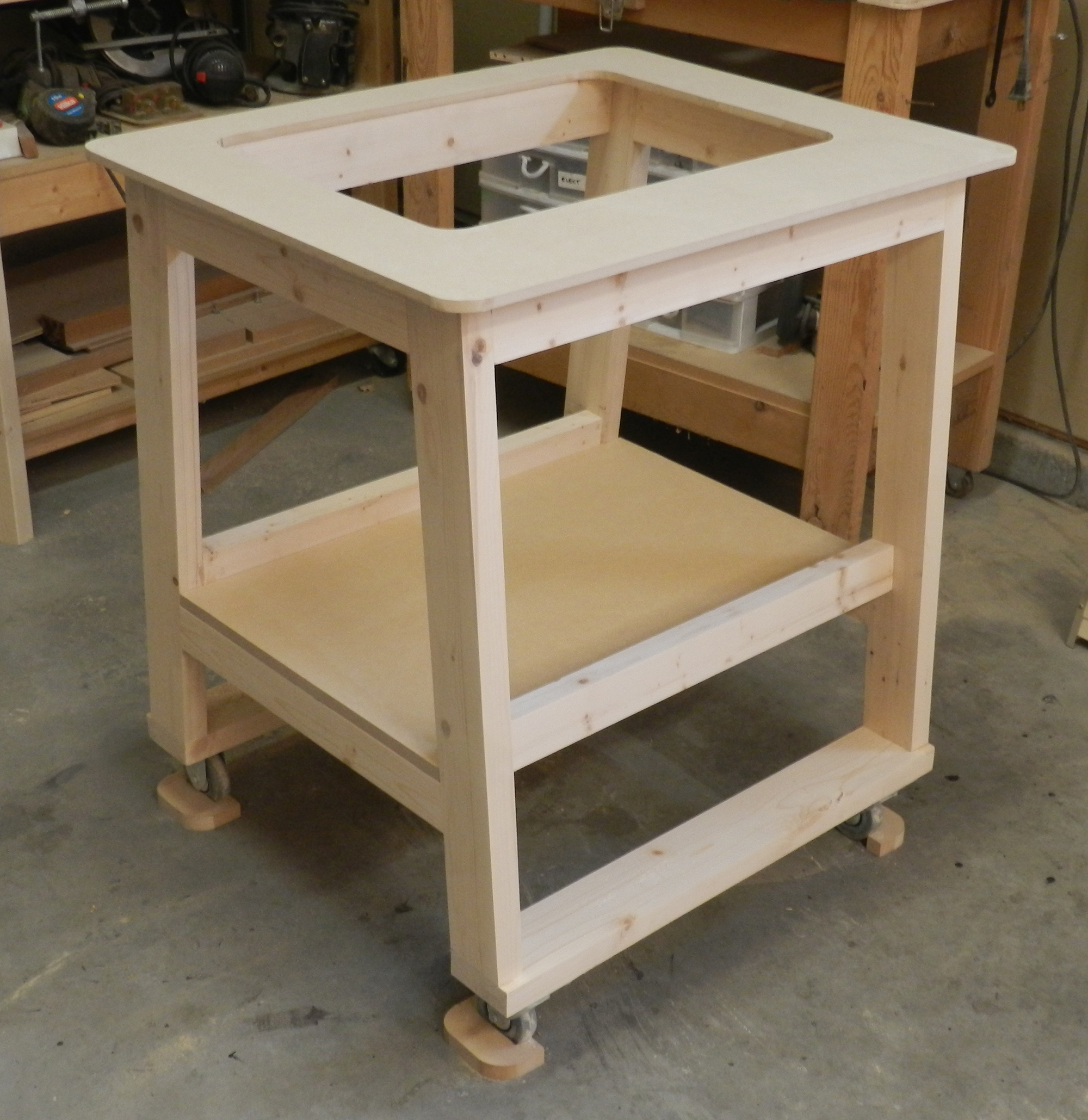 Assembled Framework Of Router Table Large Dowelmax