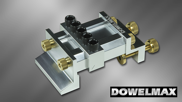 Dowelmax Classic dowel jig in 4x4 configuration.