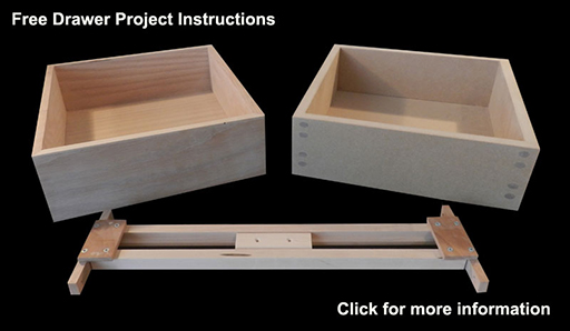 Wood drawer project built in this instructional article