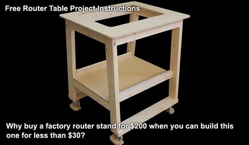 Router table project built in this instructional article.