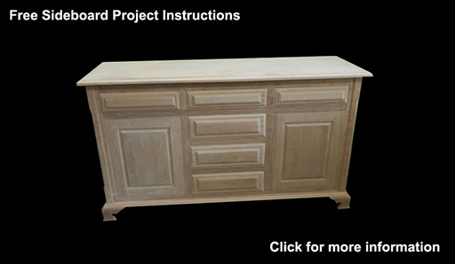 Wood sideboard project built in this instructional article
