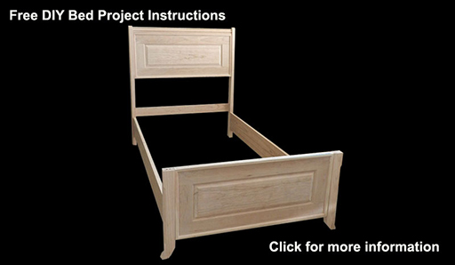 Bed frame built in this instructional article.