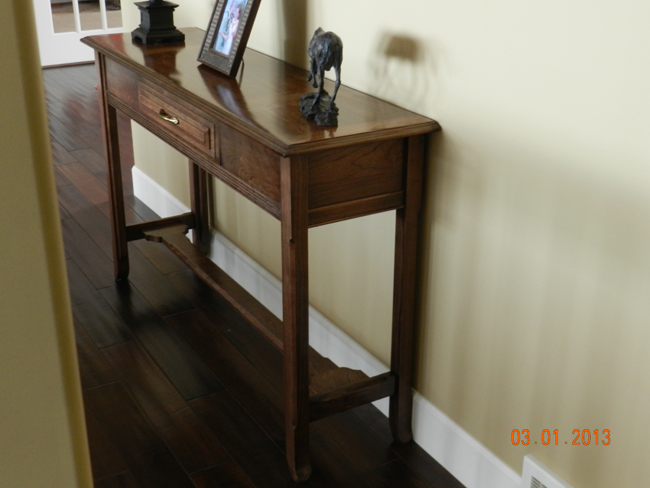How to Build a DIY Wood Hall Table Dowelmax