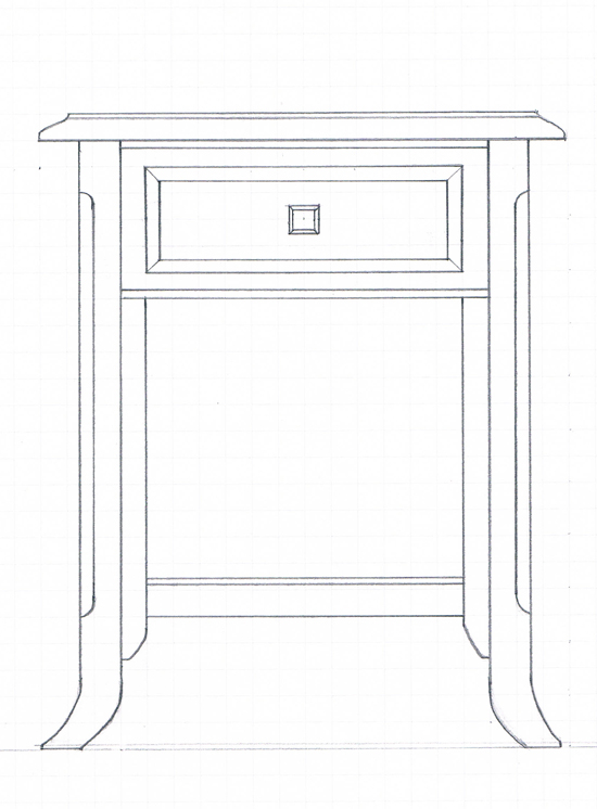 ... Small End Table, Either For Bedroom Or Sitting Room Use. The Table  Height In This Particular Case Equals 25 Inches, However The Height Can Be  Adjusted ...