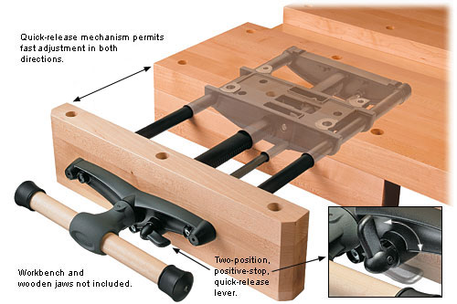 Catalogue picture of Lee Valley vise used for workbench.