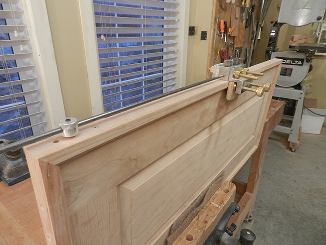 dowel-bores-in-headboard-to-join-crown-rail