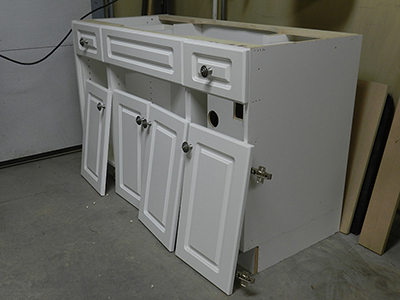 bathroom cabinets refacing how to reface a bathroom vanity cabinet dowelmax 11353