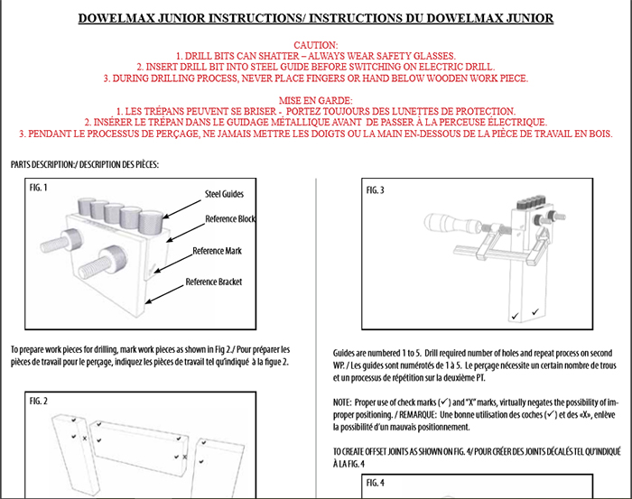 Click on image to download Dowelmax Junior instruction manual.