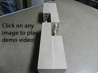 combination multiple dowel plus half lap woodworking joint open