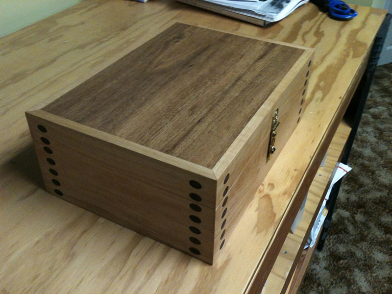 Dowelmax case made from soft maple and walnut