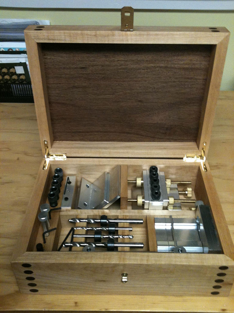 Storage compartments for Dowelmax components inside case