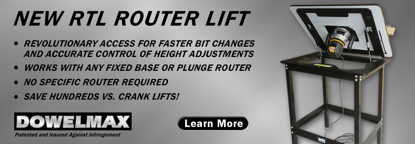 RTL router table lift product features