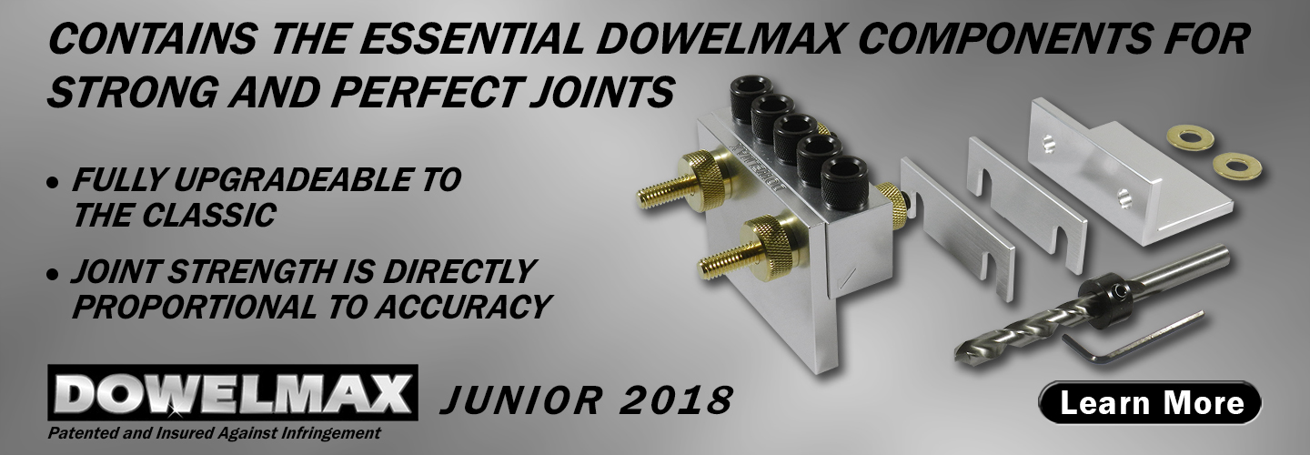picture of dowelmax junior dowel jig system contents