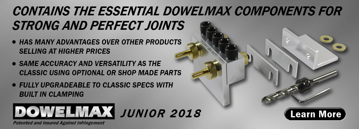 Dowelmax Junior Dowel Jig System Content with List of Advantages