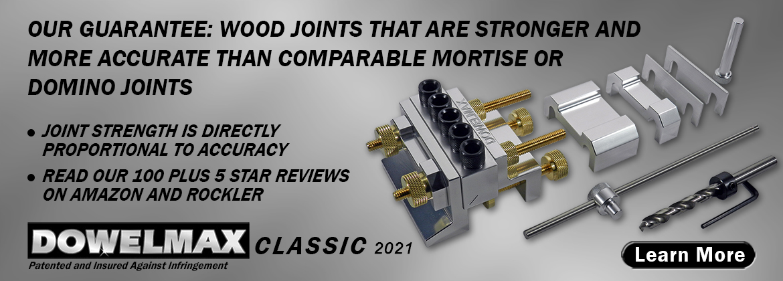 Dowelmax Classic 2021 System Contents